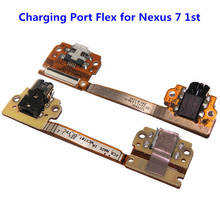High Quality New ASUS Nexus 7 Charging Port USB Dock Connector Headphone Audio Jack Flex Cable Ribbon Replacement Part