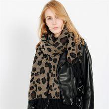 Hiver Épais Cachemire Écharpe Châle Femmes De Mode Léopard Gland Dame À  Long Couverture Écharpe Wrap Hijab Couverture Manteau . fe790adf996