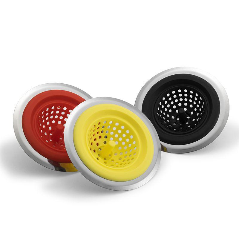 Sink Basket Waste Healthy Stainless Steel Filter 80mm Dia Kitchen Strainer
