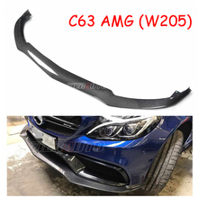 Front Lip For Mercedes Benz C63 AMG Carbon Fiber Front Bumper Spoiler PSM-Style Body Kits W205 AMG C63(China)