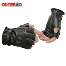 Pre Tactical Gloves Army Bicycle Outdoor Paintball Motorcross Shooting Military Half Finger Breathable Glove Adjustable Fit Most