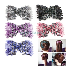 Nice 1 pc Magic Beads hair Combs Fashion Stretchy Elasticity Double Hair accessories diademas pelo #Y51#