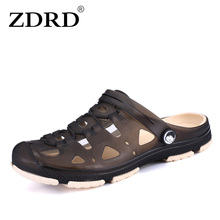 ZDRD Fashion Summer Men slippers Breathable beach sandals croc male shoes Hollow out of the drag men shoes sandals for summer