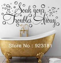SOAK YOUR TROUBLES AWAY BATHROOM BUBBLES Wall Art Stickers Decal Home DIY Decoration Wall Mural Bedroom Decor Wall Stickers