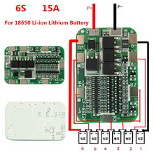 1PC New Arrival 6S 15A 24V PCB BMS Protection Board For 6 Pack 18650 Li-ion Lithium Battery Cell Module