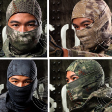 Breathable Chiefs Rattlesnake Cam Tactical Mask Airsoft Paintball Full Face Mask Motorcycle Cycling Hunting CS Balaclava helmets