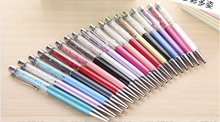 20 colors New design Diamond Ballpoint pen Crystal pens Stationery ballpen Office school Promotion gift earrings beads nacklace(China)