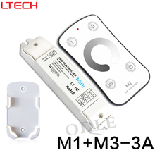New Led Dimmer RF Wireless Controller DC12-24V Remote With CV Constant Voltage Receiver Light Dimming M1+M3-3A Free Shipping
