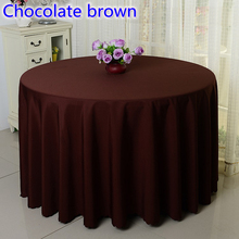 Chocolate brown colour wedding table cover table cloth polyester table linen hotel banquet round tables decoration wholesale