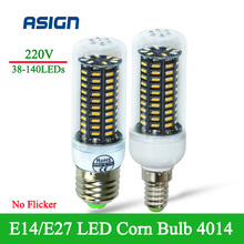 LED Corn Lamp 4peices wholesale bright SMD4014 E27 E14 38/55/78/88/140LEDs Indoor Light  Replace Compact Fluorescent Lamp