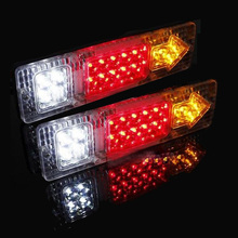 free shipping 19 LED 12V Tail Light Car Truck Trailer Stop Rear Reverse Turn Indicator Lamp back up led lights turn signal lamp(China)