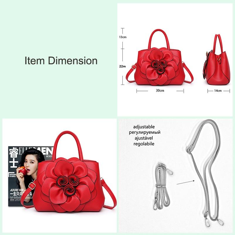 Nevenka Handbag Women Floral Handbags Small Shoulder Bags Leather Crossbody Bag for Women Handbags Purses and Handbags 201805