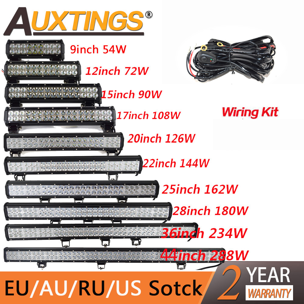 Auxtings Led-Light Offroad Truck Bar-Spot-Flood-Combo Jeep 20inch 12V 126W 4WD 24V  title=