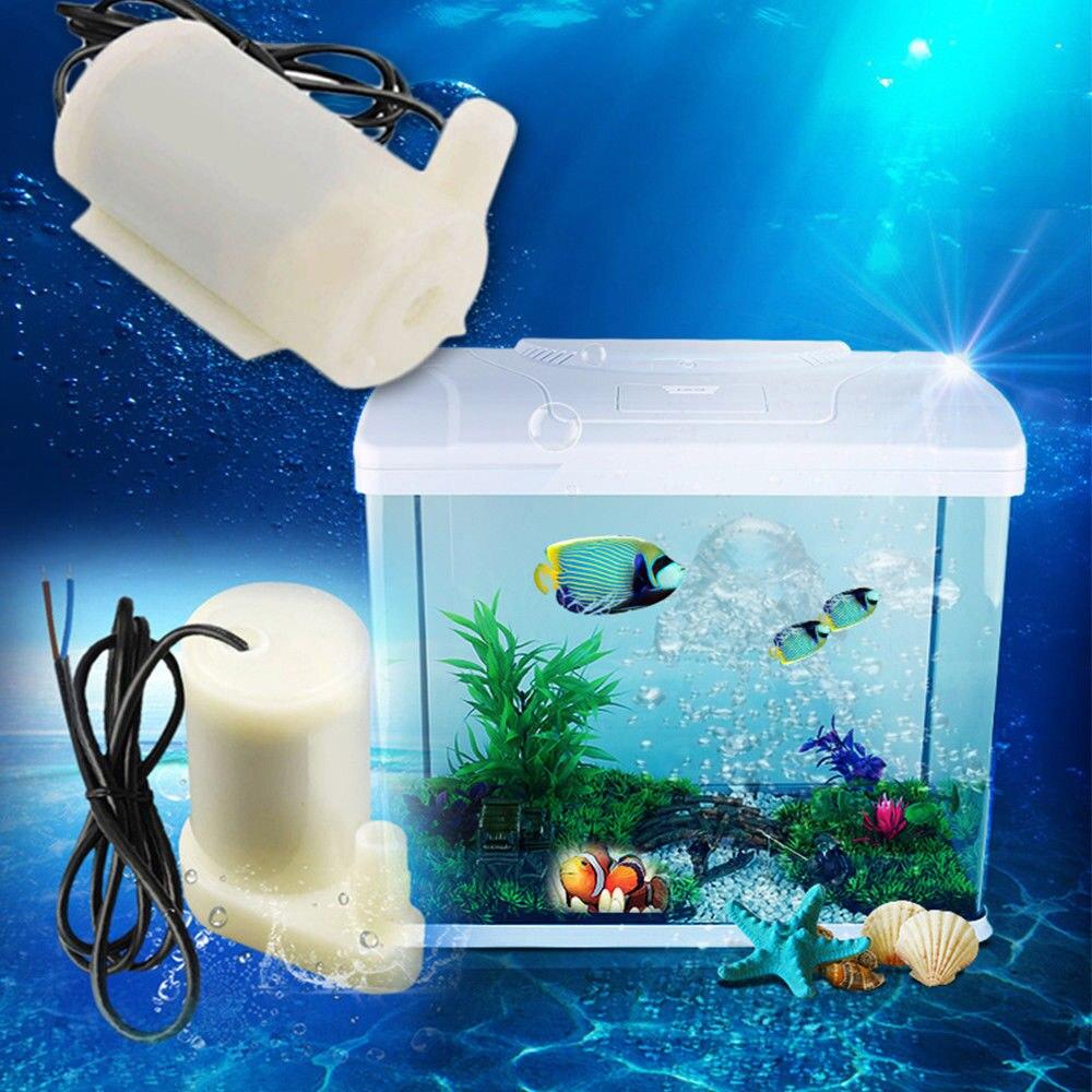 Micro Submersible Water Pumps Motor Mini Water Air Pump Super Silent DC 3-4.5V 100LH For Fish Tank Fountain Aquarium Accessory (6)