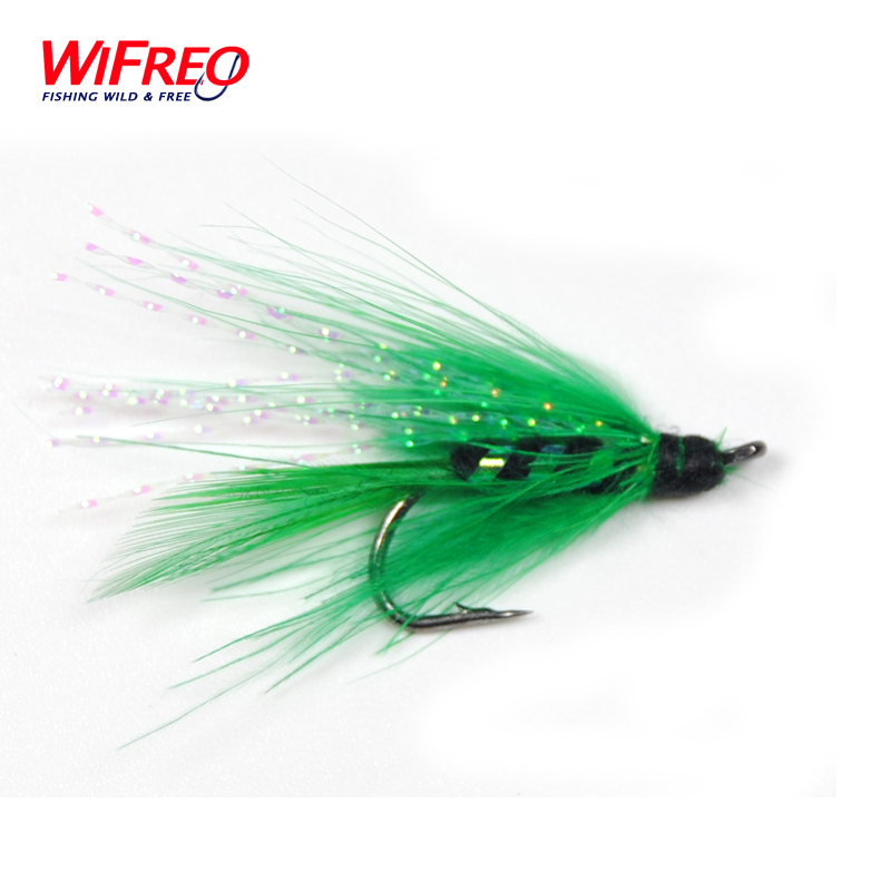 10PCS Wifreo 7# Green Flasher Holographic Streamer Fly Trout Fishing<br><br>Aliexpress