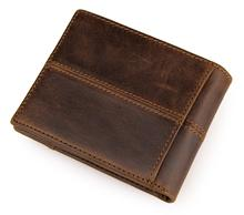 Short Genuine Leather Men Wallet brand solid leather Wallet Men Cow Leather purse small male purse card holders