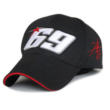 Free shipping embroidery 69 snapback baseball cap hat motorcycle helmet racing cap sport Glof for Nicky Hayden MOTO GP sport hat