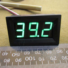 New High quality GREEN LED Ampere Panel Voltage Meter Mini Digital Voltmeter DC 0V To 100V #0101(China)