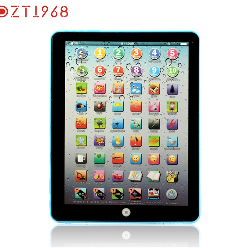 DZT6 Best Seller drop ship funny PC Russian Computer Learning Education Machine Tablet Toy Gift For Kids june19 p30(China (Mainland))