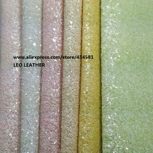 3PC A4 SIZE (21x29cm) Chunky Glitter Leahter Fabric PU Leather for DIY Sewing P719A(China)
