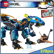 Lepin Buidling Blocks 06027 Ninja Jay's Elemental Dragon 70602 Model Compatible Bricks Toy For Children 378 PCS