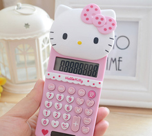 2016 New Cute Hello Kitty Basic Electronic Calculator 8 Digitals Pink Calculating