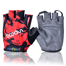 BOODUN Painting Children Gloves Protect Children Palm Antiskid Gym Gloves Body Building Half Finger Fitness Weight Lifting Glove