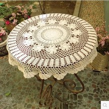 PASAYIONE Blending Crochet Flower Tablecloths Home Cover Cloth Round Table Cloth Home Textile Elegant Overlays Manteles Para(China)