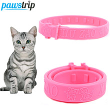 Soft Silicon Pet Cat Flea Collar Adjustable Practical Tick Mite Louse Reject Collar For Cats Kitten(China)