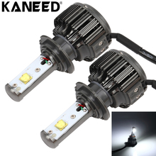 KANEED H7 LED Bulb 2pcs 30W 3600 LM 6000K Waterproof IP68 Car Headlight with 2 Lamps Lighting Accessories Kit , DC 9-36V(China)