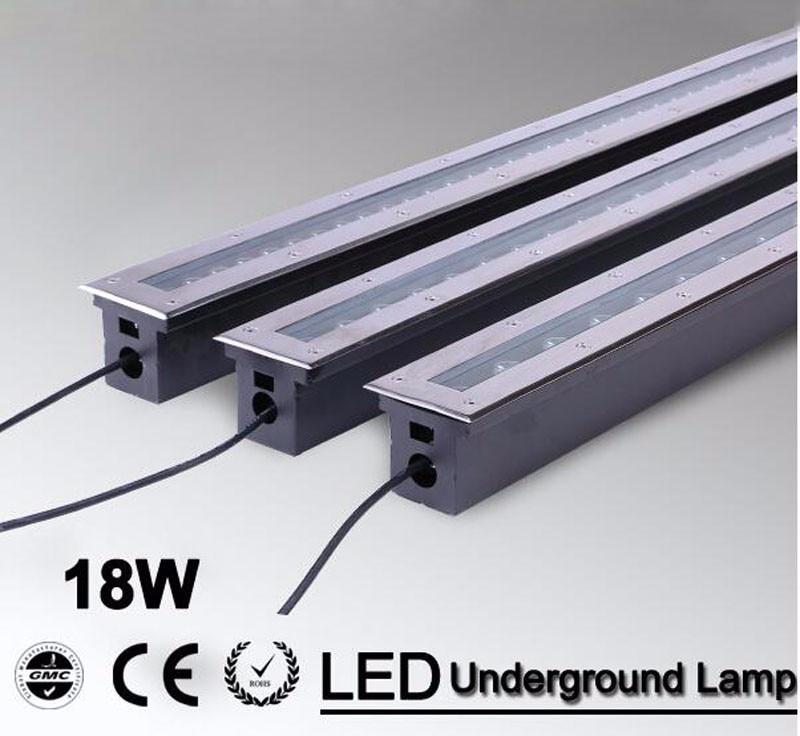 5pcs/lot 18w Warm white/RGB/Led floor lamp high power  taiwan led/epistar led ground lighting CE IP68 waterproof AC85-265V<br><br>Aliexpress
