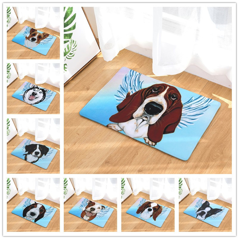 New Arrive Door Mats for Entrance Door 12 Style Dogs Pattern Carpets Living Room Dust Proof Mats Home Decor Rugs 40x60 50x80cm(China (Mainland))