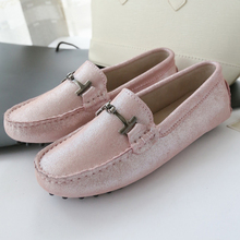 2017 Fashion Design Women Shoes Soft Moccasins Loafers 100% Genuine Leather Women Flat Shoes Casual Flats Lady Driving Shoes