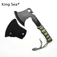 Hot Sale CK Tactical Axe Tomahawk Multi Army Outdoor Hunting Camping Survival Machete Axes Hand Outdoor Tools Hatchet Fire Axe(China)