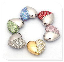 diamond crystal heart usb flash drives thumb pendrive u disk usb creativo memory stick 4GB 8GB 16GB 32GB 64GB S22
