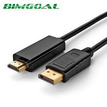 1.8m 3m Gold Plated Displayport DP to HDMI Converter Cable 1080P Audio Video Cable for PC projector
