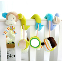 Animal Style Baby Toys 0-12 Months Infant Bed Stroller Hanging Bells Playing Crib Toys for Children Mobile Rattles with Teether