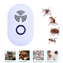 Electronic Ultrasonic Pest Reject Bug Mosquito Cockroach Mouse Repeller AC 90-250V US EU Plug Pest Repeller(China)