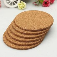 4pcs Fashion Retro Drink Cork Placemats Round Tea Coffee Coasters Hot Wine Tablemats Cup Mat(China)