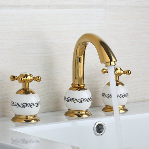 Tub Filler With Hand Shower Polished Golden Bathroom Bathtub Faucet Tap 98012 Shower Basin Sink Brass Faucet,Mixers &amp;Taps<br><br>Aliexpress