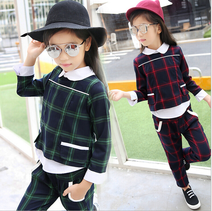 2017 new England Style Baby Clothes Sets Autumn Spring Girls Clothing Set Baby Girl Clothes Suits Long-sleeve and Pants Outfit<br><br>Aliexpress