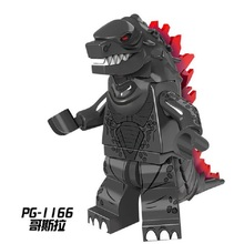 SinglePG1166 Super Heroes American Science Fiction Monster Movie Godzilla Red X man Building Blocks Action For Children Gift Toy(China)