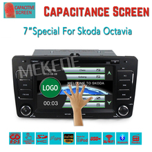 free shipping Car DVD Player GPS Navigation for Skoda Octavia 2009- 2013 a5 with Canbus BT Radio Stereo 7'' capacitive Screen