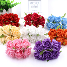 Simulation Rose Fake Bouquet 6 Juanhua DIY Rose Garland Material Home Decoration Shooting Background Wedding Supplies