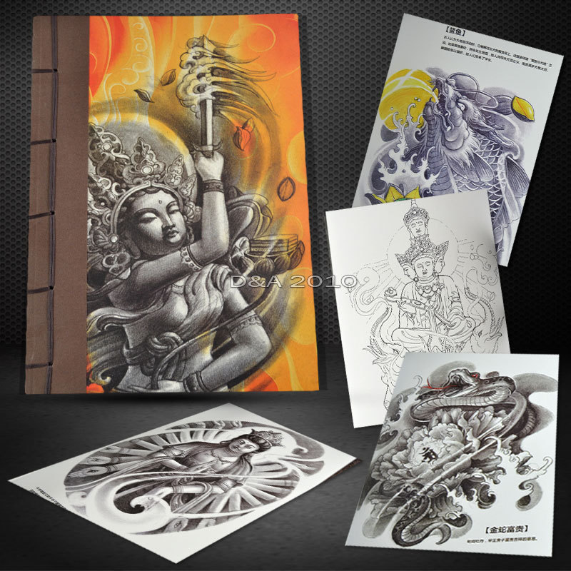 2016 New Design The Chinese Traditional Figures Series Tattoo Flash Book Good Quality Sketch Manuscript A3 Size 124 Pages<br><br>Aliexpress