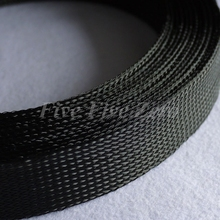 80mm Tight Braided PET Expandable Sleeving New High Quality Polyethylene Terephthalate Sheathing - 2 Meters - Black(China)