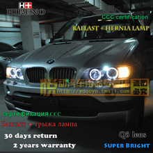 Hireno Car styling Headlamp for 1998-2003 BMW X5 Headlight Assembly LED DRL Angel Lens Double Beam HID Xenon 2pcs