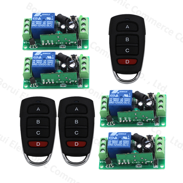 DC 12 V 1channel 10ARF Wireless remote control switch system Receiver + Transmitter 315MHZ/433 MHZ<br>