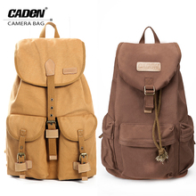 DSLR Camera Backpack Canvas Lens Photo Video Digital Bags Pack Waterproof w/Rain Cover Canon Nikon Sony Pentax F5F15 - CADeN Acces Store store