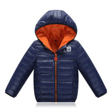 Boys Winter Jacket 2017 New Brand Hooded Kids Girls Winter Coat Long Sleeve WindProof Children Down Coat Outwear Warm 4-12 Years(China)